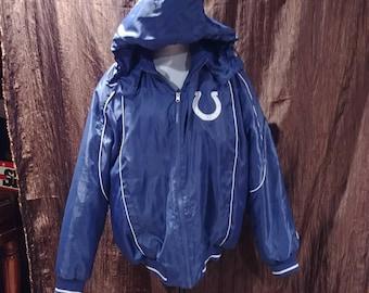 Vintage NFL Indiana Colts parka/ jacket, size large, free shipping.