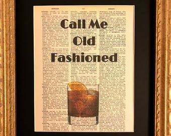 Call Me Old Fashioned Dictionary Art Print