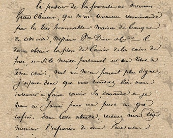 Vintage image handwriting Old letter picture Instant Download printable clipart digital graphic for scrapbooking, decor etc HQ 300dp