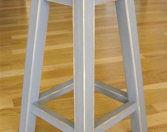 "wood stool/ round stool/ bar/counter stool/ painted/ 25"" - 30"" H"
