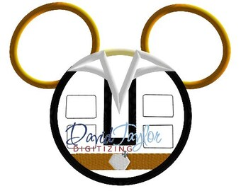 Mickey Head - Han Solo - Embroidery Machine Design - Applique - Instant Download - David Taylor Digitizing