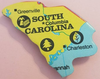 South Carolina Puzzle Piece Magnet