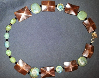 Morning Mesa is a earthly eccentric necklace inspired