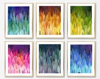 8 x 10 Ocean Dreams, Art Print, Reef, colorful art, Whimsical, whimsical art, pink, modern art, Print , home decor