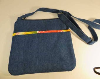Denim shoulder bag, denim cross body bag, denim bag