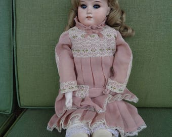 "antique Bisque head doll 19"" Armand Marseille 370 Shoulder head dolly face Germany"