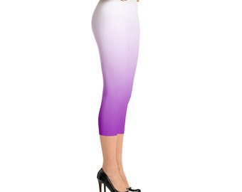 White to Purple Ombre Capri's
