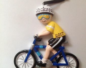 33% Off Personalized Bicycle, biking, spinning, cycling , bike race Christmas Ornament Gift