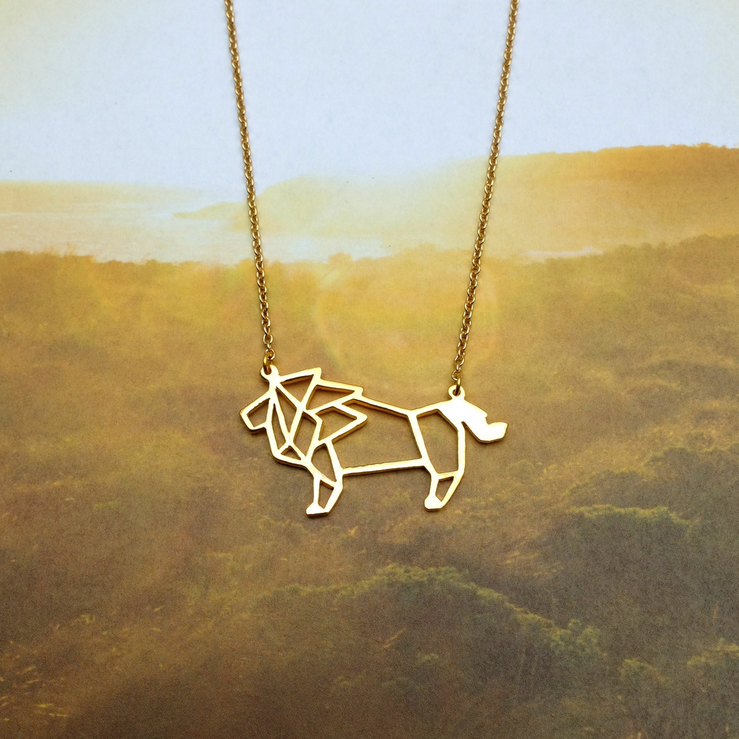 pendant shaped products necklace jewelry in realistic wolf silver dotoly fox animal