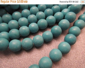 ON SALE 20% OFF Magnesite Turquoise Round 10mm Beads 40pcs