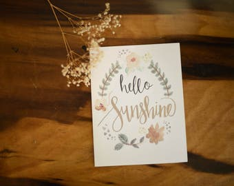 Encouraging Cards | Hello Sunshine | Set of 10, 15 or 20
