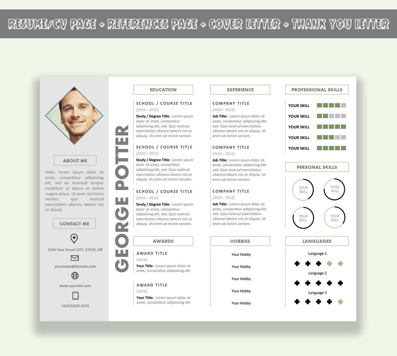 Microsoft Word curriculum Horizontal plantilla / plantilla de
