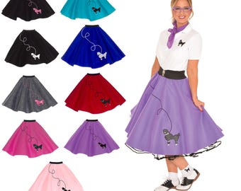 Adult 50's POODLE SKIRT