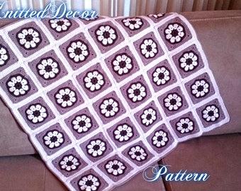 Free Crochet Pattern Free Crochet Baby Blanket Pattern Blanket Crochet Floral Motif Pattern Crochet Blanket DIY Crochet Blanket PDF Blanket