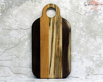 Cutting Board, Wood Cutting Board, Cheese Board, Wooden Cutting Board, Walnut, Cherry and Ambrosia Maple Wood