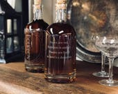 "NEW ""Inebriated Intentions' Bourbon Poetry Decanter - Perfect for a lover of the home bar, cocktails and personalized romance."
