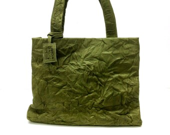 "Sale!!! Green Leather bag. ""Wrinkled"" leather Tote. Premium distresssed leather. Handmade leather tote bag"
