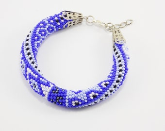 Gift ideas for wife gifts sea Nautical bracelet blue jewelry/for/girlfriend gifts unique bracelet roll on bracelet beaded bracelet for her
