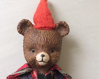 B is for Bear ~ Vintage China and Cloth Teddy Bear Doll