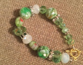 Silver  beading wire bracelet