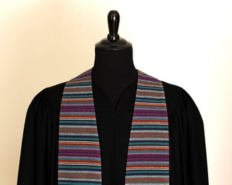 """Clergy Stole, Handwoven, #157, Pastor Stole, Minister Stole, 54"""" Length, Pastor Gift, Vestments"""