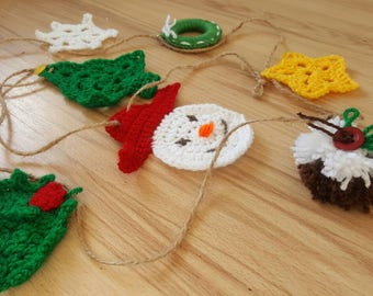 Crochet Christmas garland