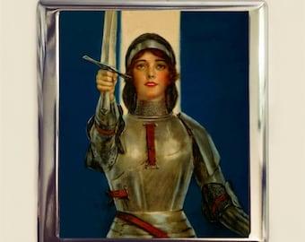 Joan of Arc Cigarette Case Business Card ID Holder Wallet French Feminist Icon Girl Power Feminism Women's History