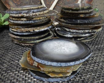 """Natural Agate Slice """"C Grade""""  - Natural Stone Edges - AS IS - Craft Projects -  Home Decor (RK8B12)"""