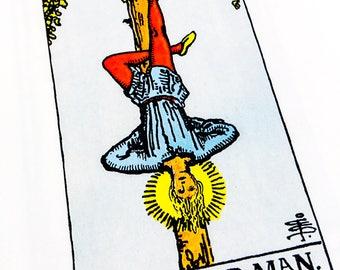 Tarot Card / Illustration / The Hanged Man / 1989 / Wall Art / Home Decor / nursery art