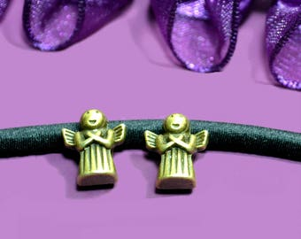 4 beads for cord 05mm Angels color bronze