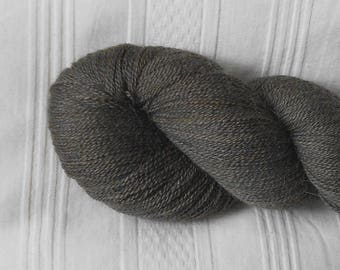 Slate alpaca/silk laceweight yarn