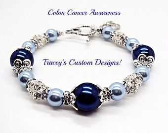 Beautiful COLON CANCER AWARENESS Bracelet
