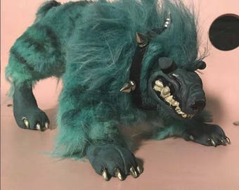 Hellhound posable art doll.