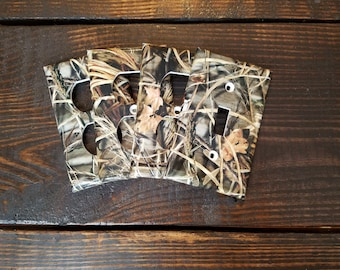 Woodland Camo Light Switch And Outlet Covers | Hunting Decor - Set of 4 - Real Tree - Camo Baby - Cabin Decor - Nursery Decor - Man Cave