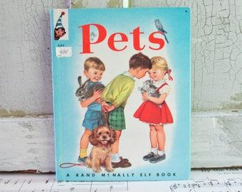 Vintage Pets Rand McNally Book 1962