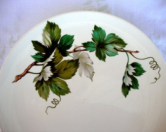 Vintage Knowles China Grapevine 4 bread and butter plates