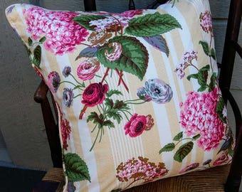 Garden Pillow, Chintz Pillow - 22 x 22