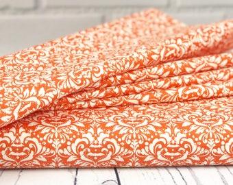 Halloween Fabric - Orange Damask Fabric - Eek Boo Shriek Fabric - Riley Blake Designs - Damask Fabric - Sold by Half Yard