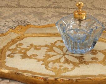 Vintage IRICE Light Blue Perfume Bottle