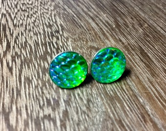 12mm Green Mermaid Scale Studs