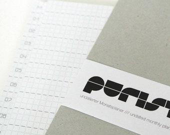 purist - undated monthly Planner