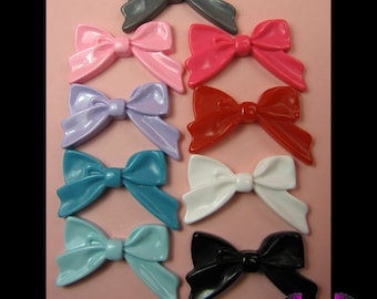 5 Pieces BOWS  Decoden Resin Cabochons 29x44mm