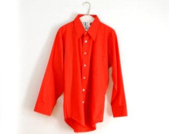 60s Mens Shirt Kent Collection by Arrow Sz M Sz 17 33