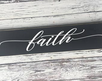 faith | faith sign | painted sign | rustic sign | Wood Sign | home decor | Home sign | Style# HM234