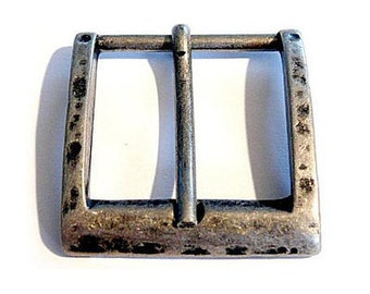 4 piece belt buckle 28 mm old silver belt buckle buckle LARP Medieval