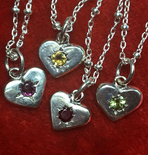 Ready To Ship Jeweled Heart Charms