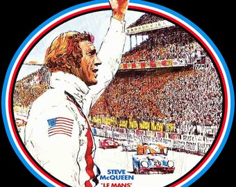 70's Steve McQueen Classic Le Mans Poster Art custom tee Any Size Any Color