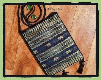 FREE SHIPPING   Bohemian Crossbody   Boho Pouch   Ethnic Bag   Tribal Purse   Hippie Handbag