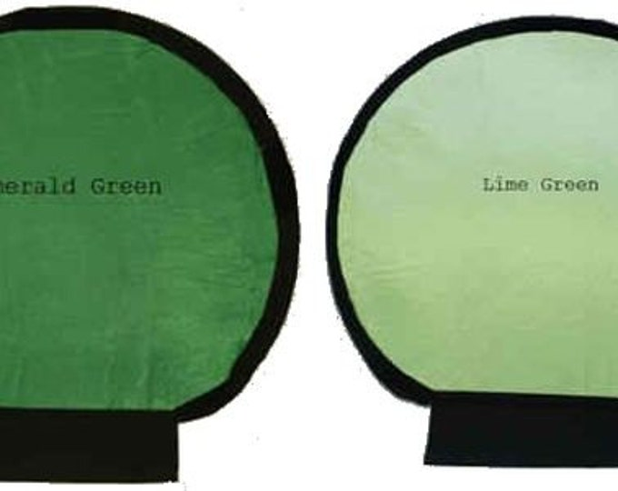Photography, Flash Light Reflectors, Photography Accessories, Emerald and Lime Double Sided, Fits onto White Shell Reflector, Enhanced light