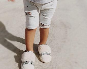 distressed leggings- baby pants - baby leggings - baby pants - ripped leggings - toddler leggings - shorts - hipster baby - boho baby